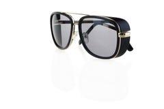 Black sunglasses on white. Isolated Stock Photos