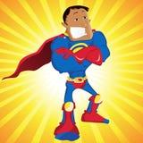 Black Super Hero Dad. Stock Photography