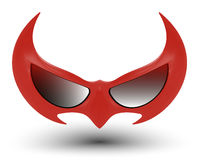 Black super hero mask stock illustration