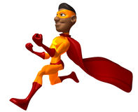 Black superhero Royalty Free Stock Images