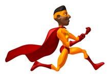 Black superhero Stock Image