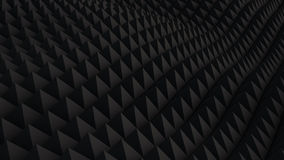 Black surface waving 3D render. Black surface waving. 3D rendering abstract background Royalty Free Stock Image