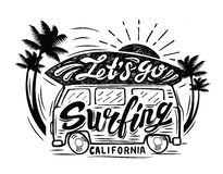 Black surfing badge Stock Photography