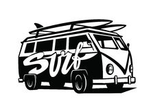 Black surfing badge Stock Images