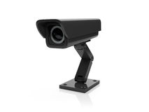 Black Surveillance Camera Royalty Free Stock Image