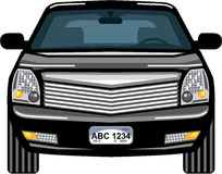 Black SUV front view vector Royalty Free Stock Photos
