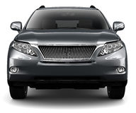 Black suv - front view Royalty Free Stock Image