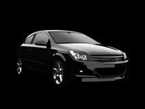 Black SUV In Dark Royalty Free Stock Photo