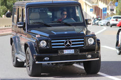Black SUV Mercedes AMG G 65 in Monaco Royalty Free Stock Photos