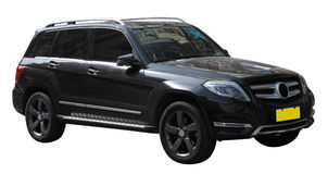Black SUV. Black Mercedes Benz SUV isolated on white Royalty Free Stock Image