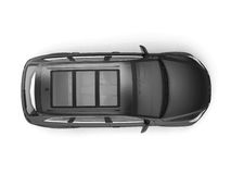 Black SUV top view Stock Photo