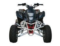 Black Suzuki quad-bike. Isolated on white Stock Photos