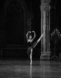 The black swan, Aggie Liya-ballet Swan Lake. In December 20, 2014, Russia's St Petersburg Ballet Theater in Jiangxi Nanchang performing ballet Swan Lake Royalty Free Stock Images