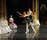And the black swan dance-The prince adult ceremony-ballet Swan Lake. In December 20, 2014, Russia's St Petersburg Ballet Theater in Jiangxi Nanchang performing Stock Photo