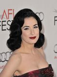 """Dita Von Teese. At the Los Angeles premiere of """"Black Swan"""", the closing film of the 2010 AFI Fest, at Grauman's Chinese Theatre, Hollywood. November 11, 2010 Royalty Free Stock Photo"""