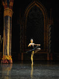 The black swan flapping its wings-ballet Swan Lake. In December 20, 2014, Russia's St Petersburg Ballet Theater in Jiangxi Nanchang performing ballet Swan Lake Stock Photos