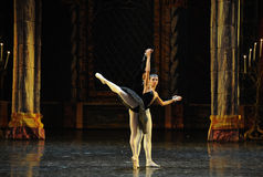 The black swan-The prince adult ceremony-ballet Swan Lake Stock Photo