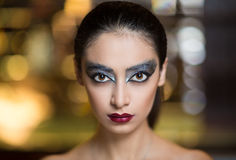 Black swan woman Stock Images