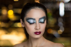 Black swan woman Royalty Free Stock Image