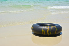 Black swim ring Royalty Free Stock Image