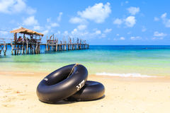Black swim ring Royalty Free Stock Images