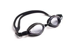 Black swimming google isolated at plain white Royalty Free Stock Photos
