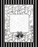 Black Swirl Bells Print Stock Image
