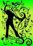Black swirl fantasy silhouette Stock Images