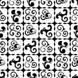 Black swirl seamless pattern background Royalty Free Stock Photos