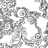 Black swirls on a white background Stock Photos