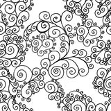 Black swirls on a white background Stock Images