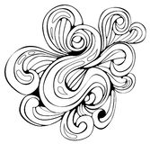 Black Swirly Scroll Stock Image