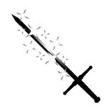 Black sword Stock Photography
