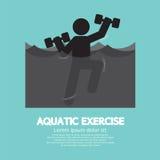 Black Symbol Aquatic Exercise Stock Photo