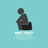 Black Symbol Baby Toilet Stock Images