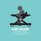Black  Symbol Baby Walker Royalty Free Stock Image