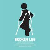 Black Symbol Broken Leg Stock Images