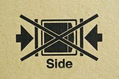 Black symbol on cardboard, Stock Photos
