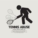 Black Symbol Graphic Tennis Abuse Stock Images