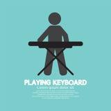 Black Symbol Of A Man Playing Keyboard Stock Photo