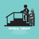 Black Symbol Physical Therapy Royalty Free Stock Photography