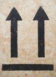 Black symbol on plywood Stock Photo