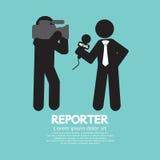 Black Symbol Reporter. Stock Photo