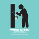 Black Symbol Rubber Tapping. Royalty Free Stock Photo