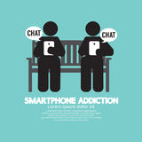 Black Symbol Smartphone Addiction Stock Image