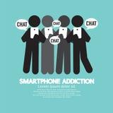 Black Symbol Smartphone Addiction Royalty Free Stock Images