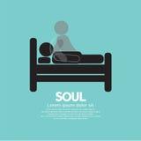 Black Symbol Soul Leaves Body. Vector Illustration Royalty Free Stock Photography