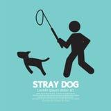 Black Symbol Stray Dog. Stock Image