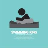 Black Symbol Swimming Ring. Stock Photos