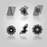 Black symbols. Collectio of Black Design Elements Royalty Free Stock Photo